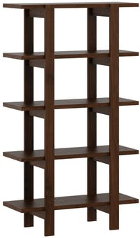 Pro Design Marsden Rak Display 4x1 - Brown Walnut