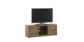 Pro Design Batavia Rak TV / Meja TV Dengan 2 Rak 4 Laci - Yellow Oak