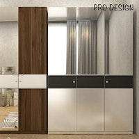 Pro Design Inbiz Lemari Pakaian 3 Pintu - White Gpo - Leather Black