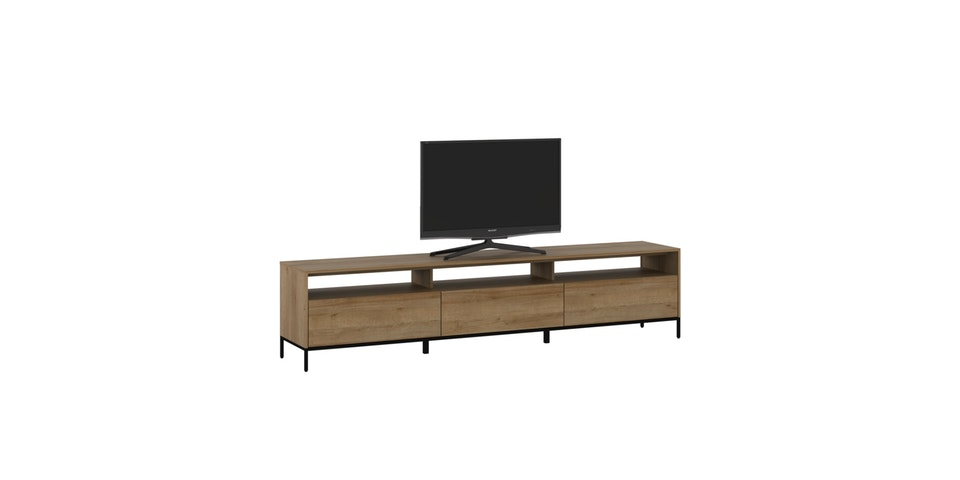 Pro Design Petra Rak TV / Meja TV Dengan 3 Rak 3 laci - Yellow Oak