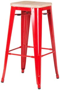 Pro Design Steelmaw Bangku Bar Besi Ukuran 76-Kayu - Red