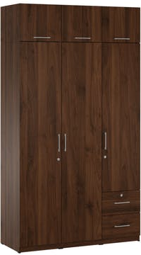 Pro Design Ultimat Lemari Pakaian 3 Pintu - Brown Walnut