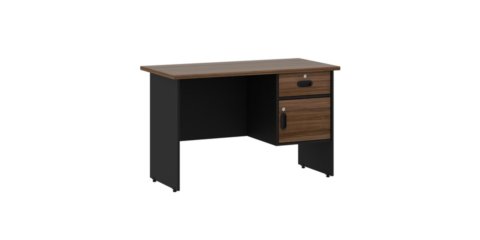 Pro Design Vista Meja Kerja Kantor Ukuran 120 - Black - French Walnut