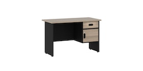 Pro Design Vista Meja Kerja Kantor Ukuran 120 - Black - Light Oak
