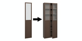 Pro Design Aquila Pintu Kaca Dan Panel - Right - Dark Walnut