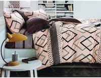 Pisteos Set Sprei Brown Milo 200x200x30