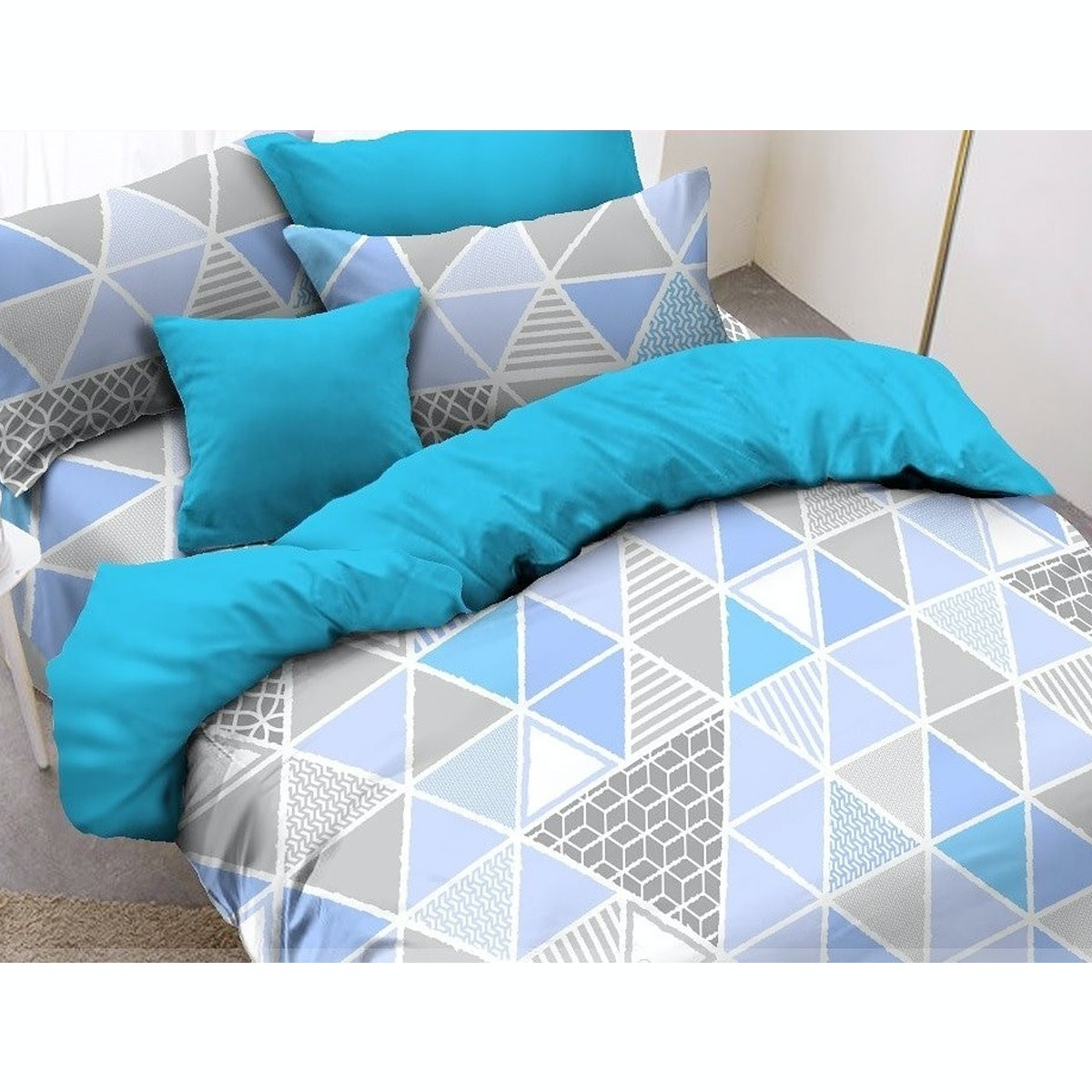 Pisteos Set Sprei Trilogy Blue 180x200x30
