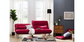 Atease By Inoac Sofa Bed Gland Red