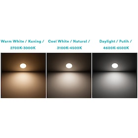 Philips Downlight ERIDANI 080 3W 65K WH Recessed LED Putih