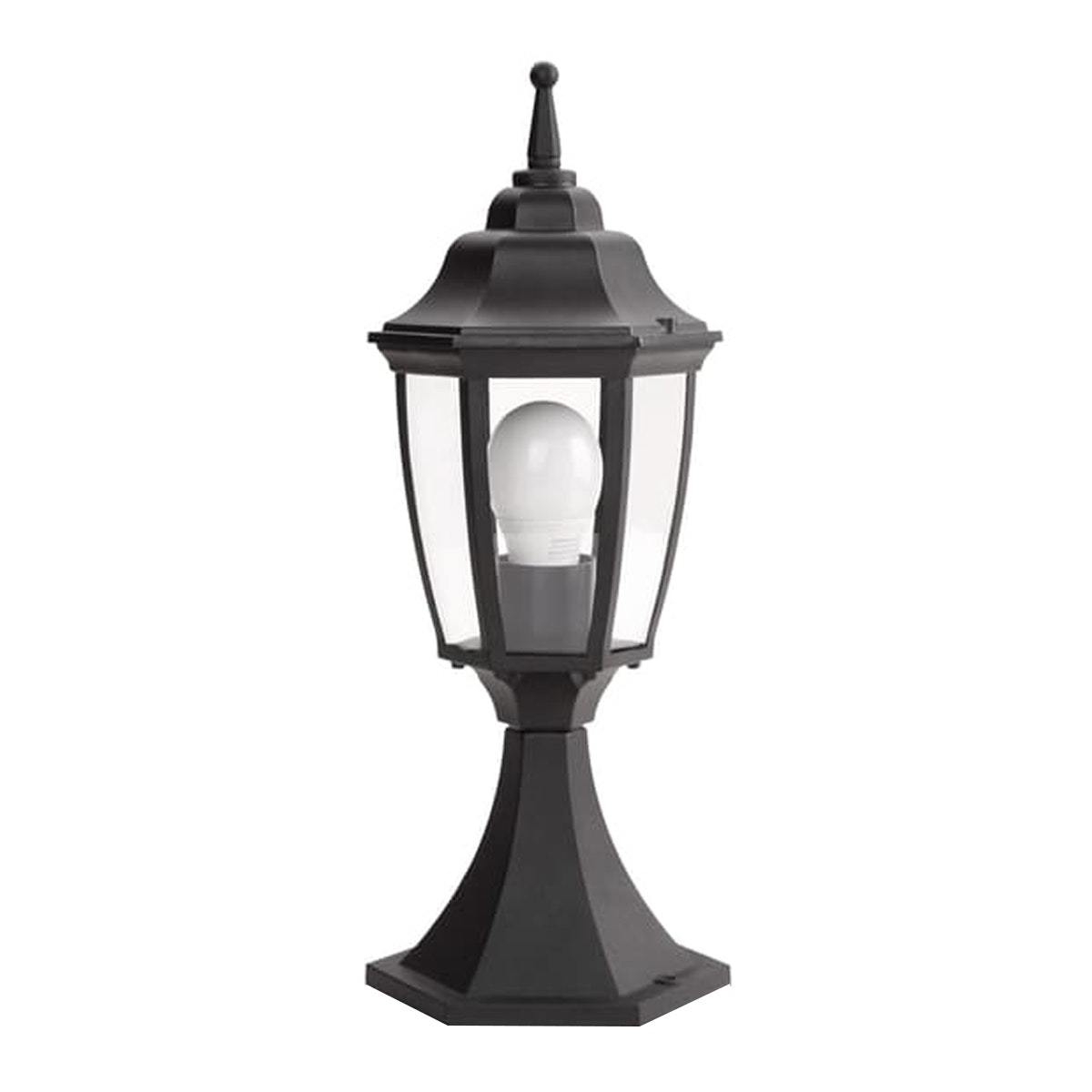 Philips Gate Light Marcedo Pedestal Black 16117