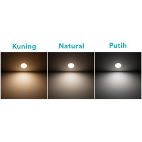 Philips Downlight ERIDANI 125 7.5W 65K WH Recessed LED Kuning
