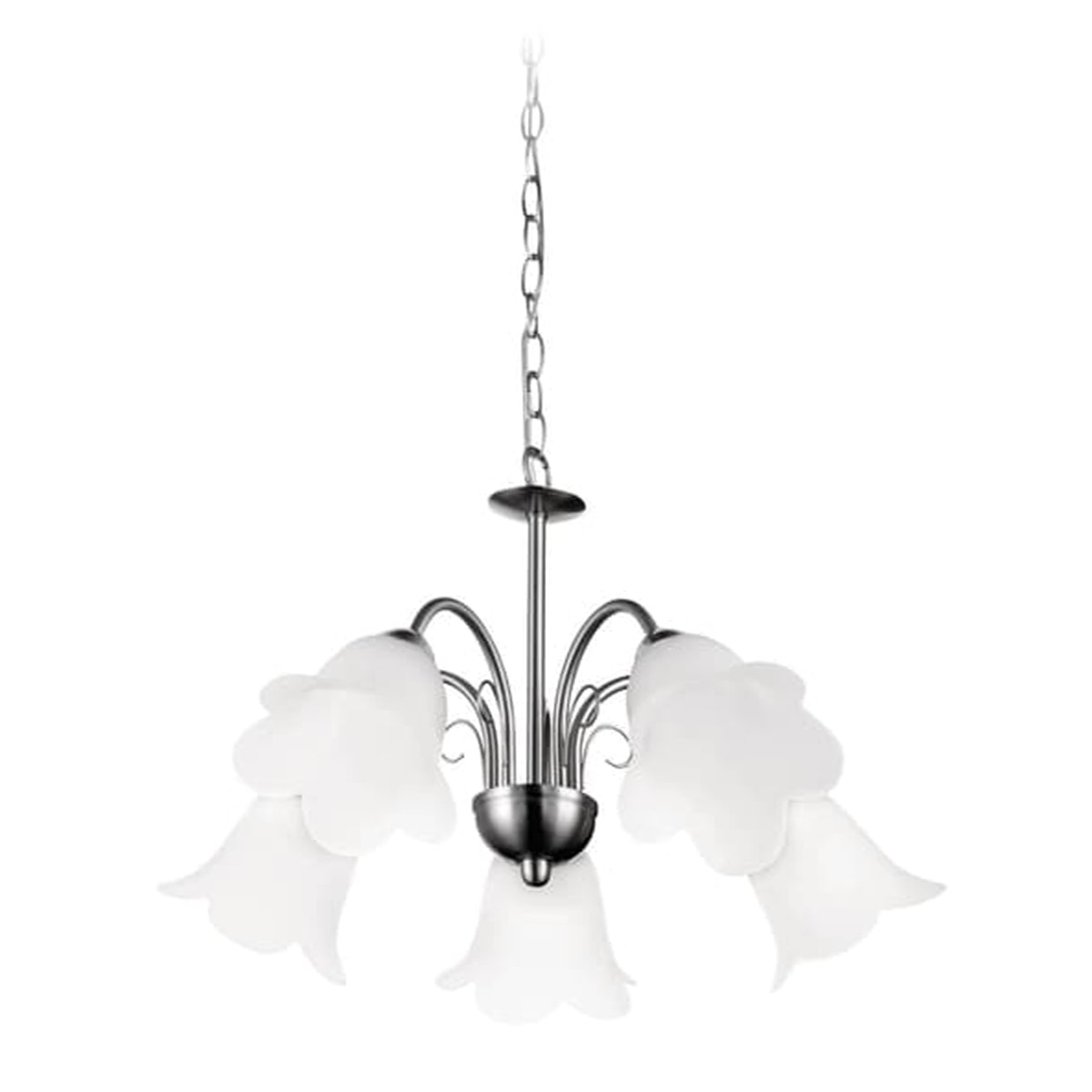 Philips Suspension Light Chandelier (Nickel) Matt Chrome 5x40W 36995