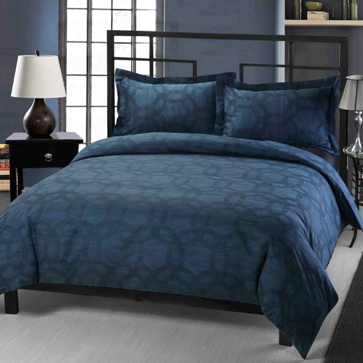 Palmerhaus Set Bedcover Mirage Navy Bedding Set 180x200x40cm