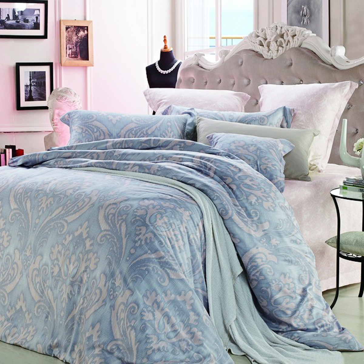 Palmerhaus Set Bedcover Verve Blue Bedding Set 180x200x40 cm
