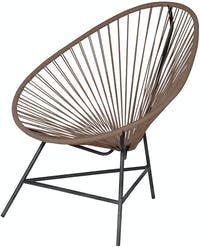 Pineapple Lifestyle Furniture Trifecta Lounge Chair (Caramel)