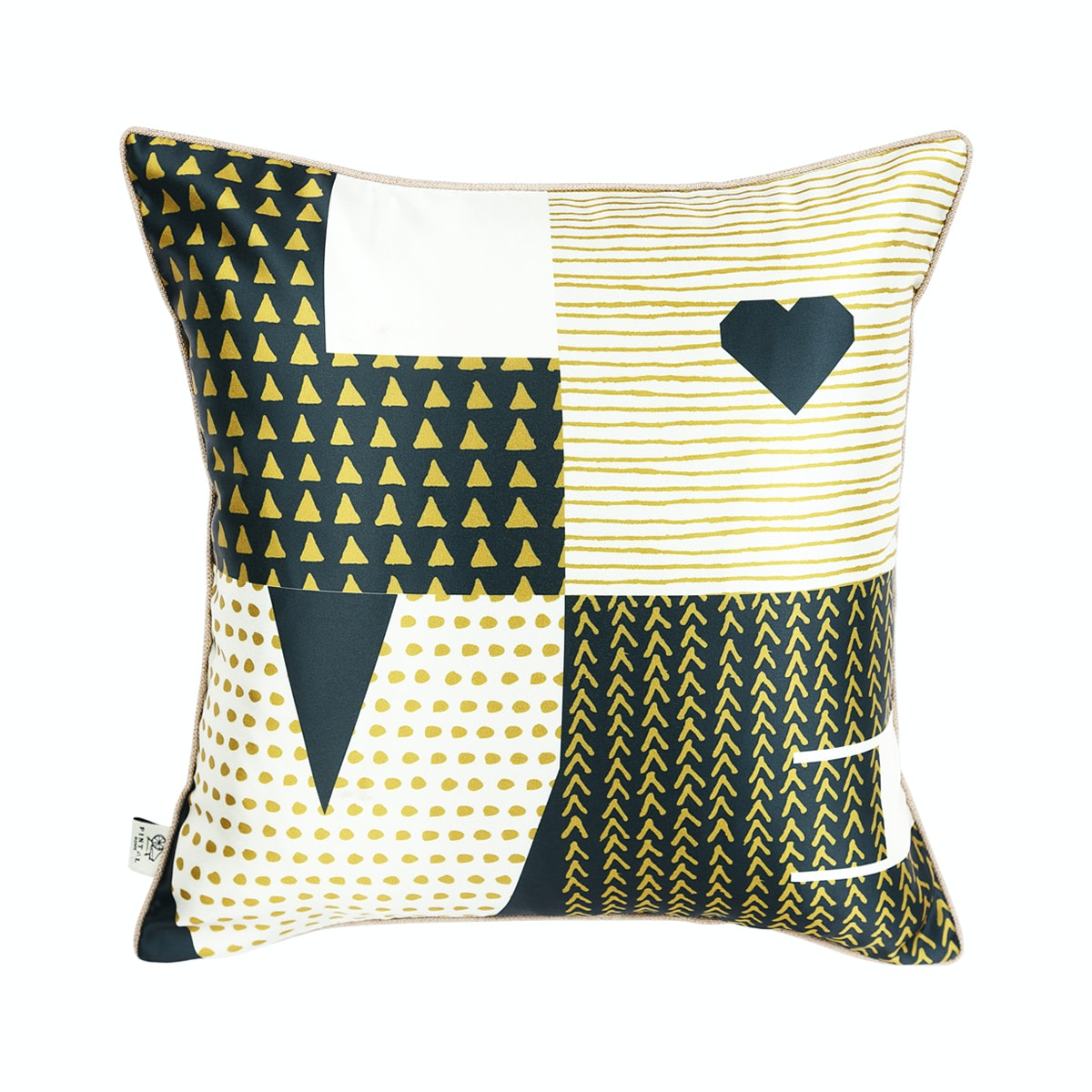 Pintal Home Sarung Cushion Love Black Gold 40x40cm