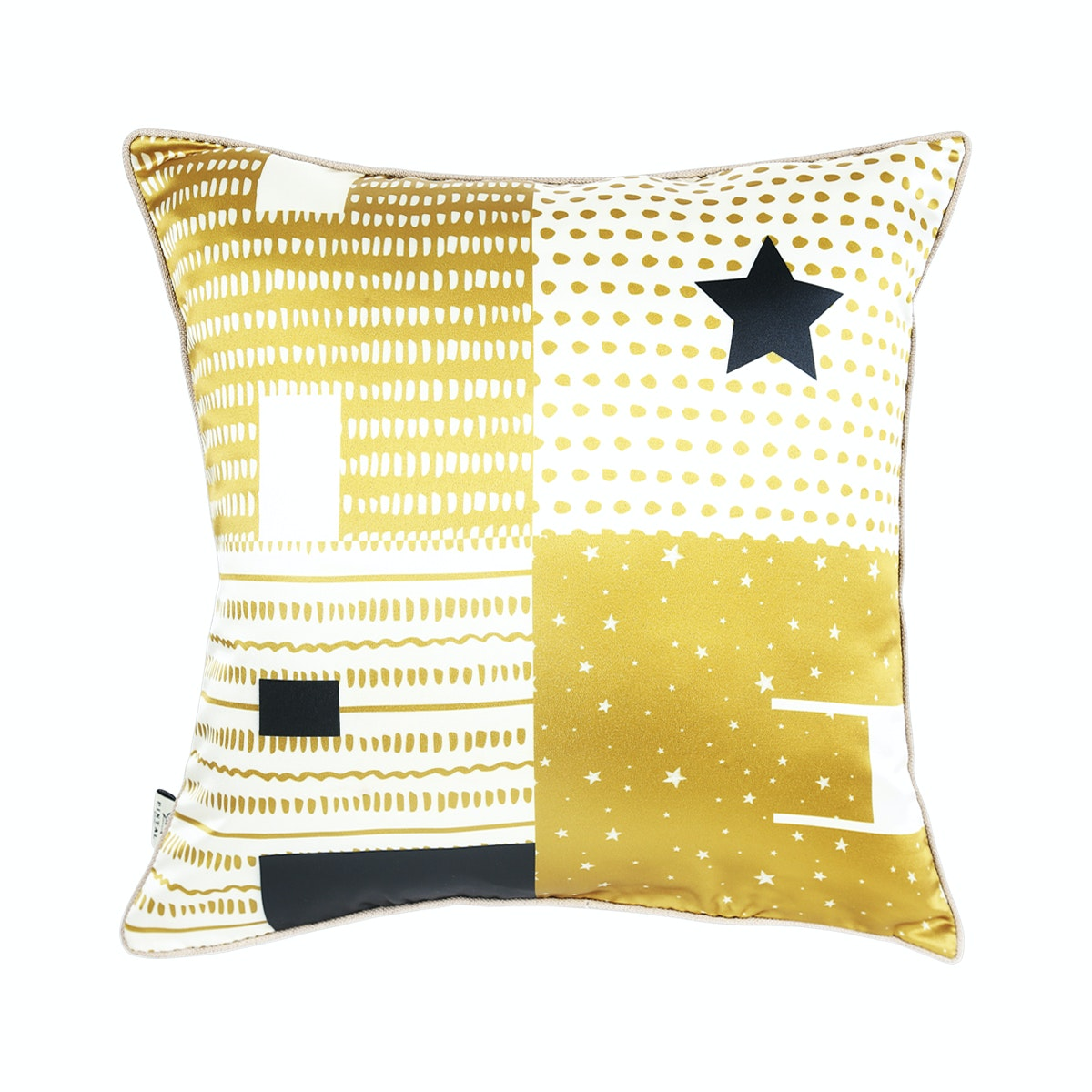 Pintal Home Sarung Cushion Hope Black Gold 40x40cm