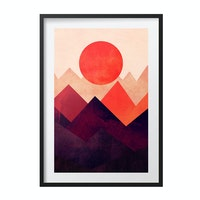Poster House Poster Touched By The Sun 30x45cm + Premium Frame Kayu 40x55cm Dengan Matboard