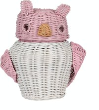 Pouffie Rottan Owl Small Eyes Pink