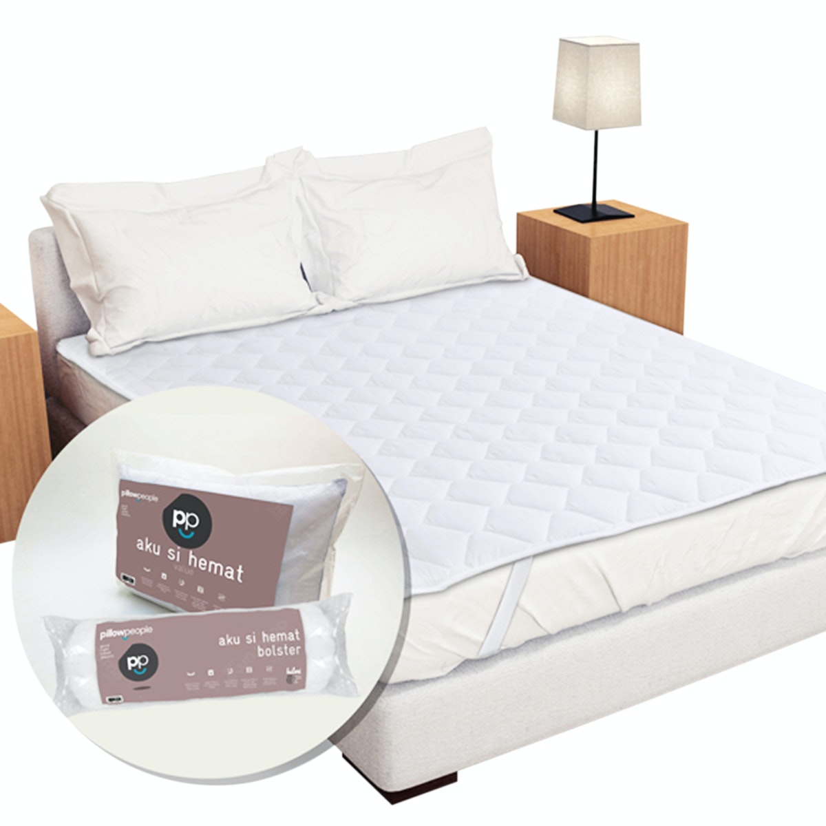 Pillow People Paket Protector 3 in 1 - Matras Protector 180 + Pillow Protector + Bolster Protector