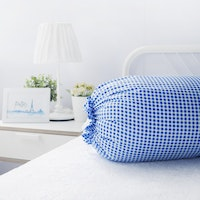 Pillow People Cover Bolster Checker Blue