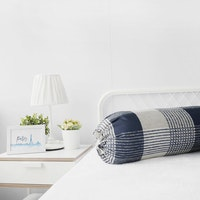 Pillow People Cover Bolster Square Navy