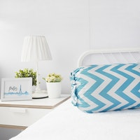 Pillow People Cover Bolster Zigzag Tosca