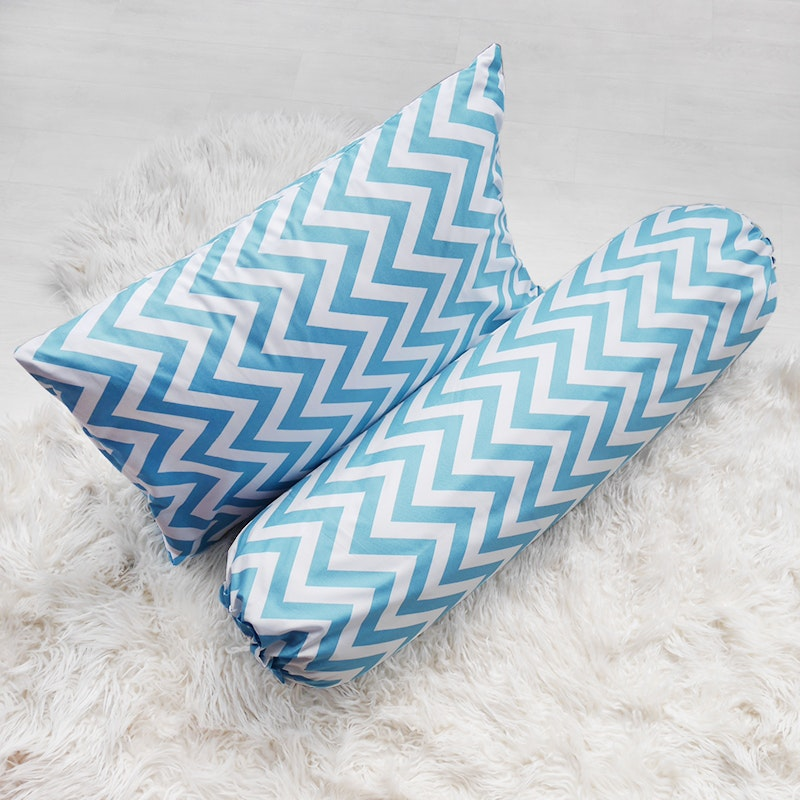 Pillow People Paket Cover Pillow + Cover Bolster Zigzag Tosca