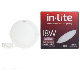 In Lite Lampu Panel Eco Downlight LED Round 18 Watt  6500K Putih