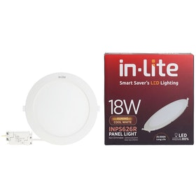In Lite Lampu Panel Eco Downlight LED Round 18 Watt  4000K Putih Kekuningan