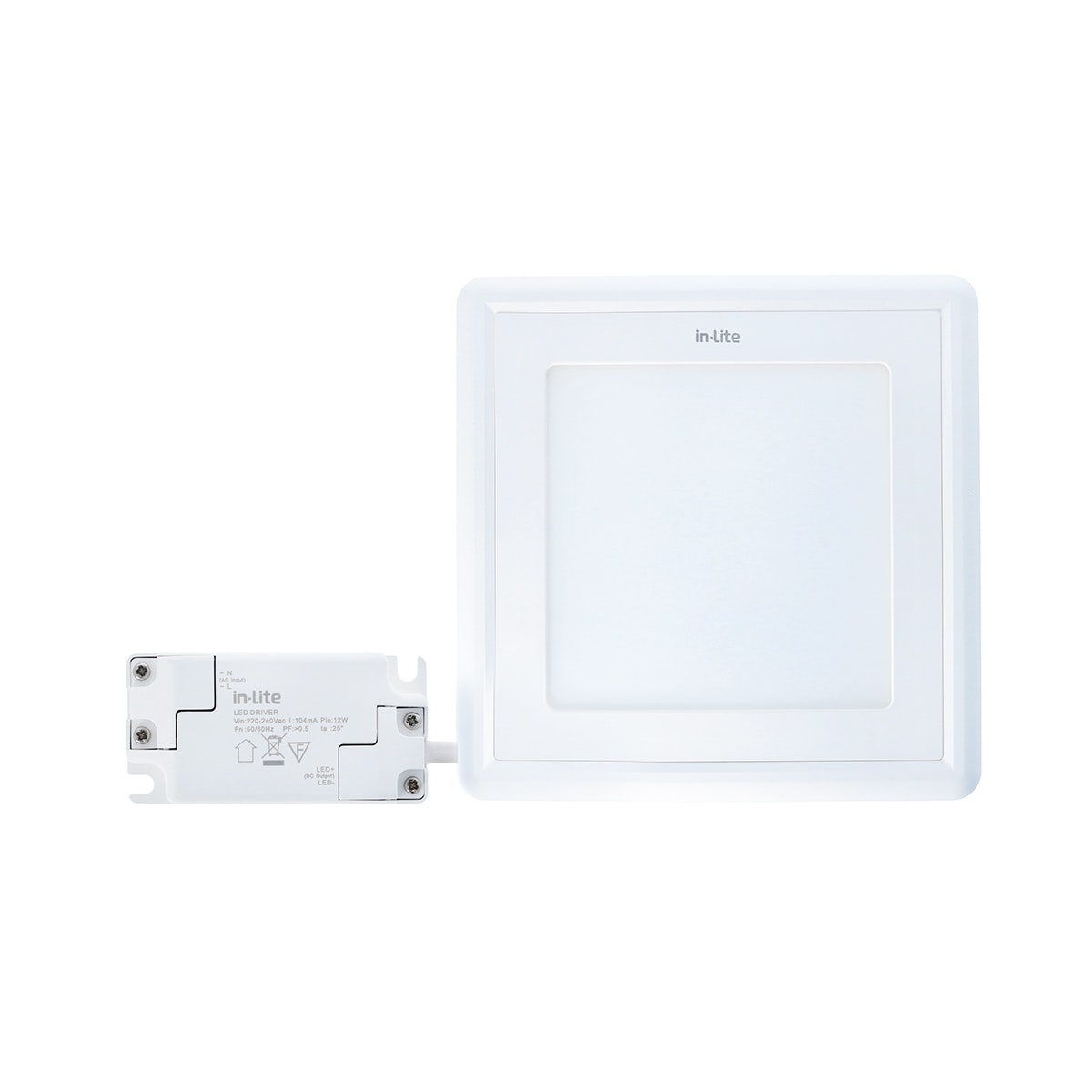 In Lite Lampu Panel Outbow / Downlight LED Square 12 Watt  3000K Kuning