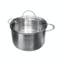 Fincook Panci Dutch Oven Stainless 24 cm + Tutup Kaca DO2405SSGL