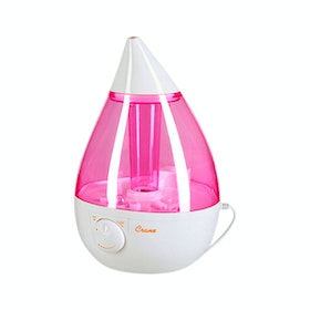 Crane USA Dropshape Pink/White Cool Mist Humidifier