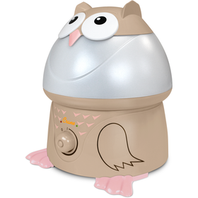 Crane USA Adorables Tan/Pink Owl Cool Mist Humidifier