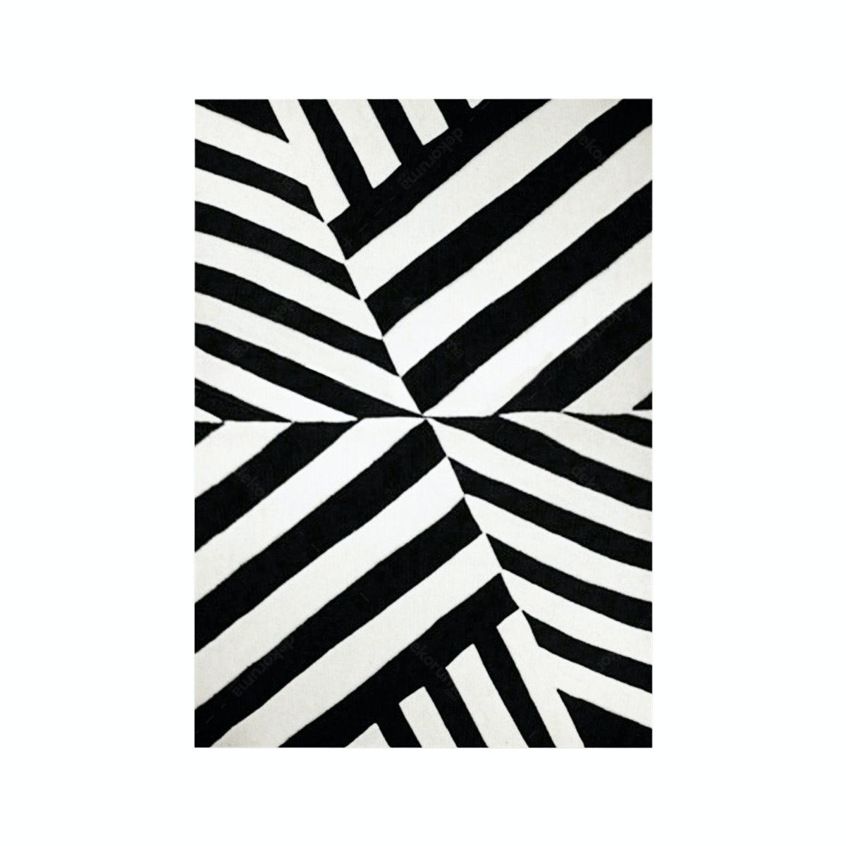 Rug House Karpet Hand Tufted Diagonal BW