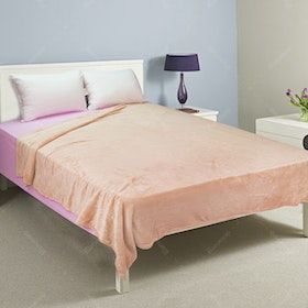 Rise Fleece Blanket Single 180x210cm Peach