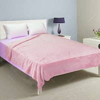 Rise Fleece Blanket Double 210x210cm Pink