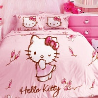 Rise Bedcover Single Hello kitty Magnolia Pink 160x230cm