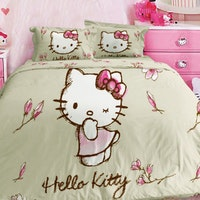 Rise Bedcover Single Hellokitty Magnolia Nude 160x230cm