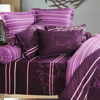 Rise Sprei Super King Motif Purple Desire Sateen Cotton Size 200x200x40cm