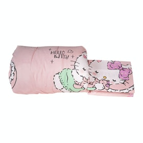 Rise Sprei Set Bed Cover Hello Kitty Girlyroom Original Sanrio license 160X200X35 Queen size pink