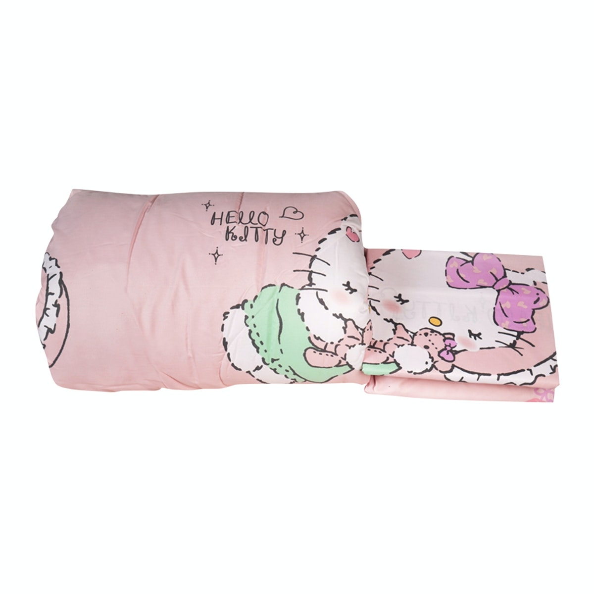 Rise Sprei Set Bed Cover Hello Kitty Girlyroom Original Sanrio license 180X200X35 King size pink