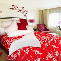 Rise Bed cover Motif Scarlet 240x240cm