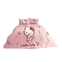 Rise Bedding Bed Cover Hello Kitty Magnolia Pink Original Sanrio 160x220cm