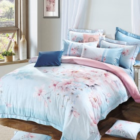 Rise Bedding Sprei Set Bed Cover Bahan Tencel Linen Motif Sterling 160X200X40