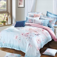 Rise Bedding Sprei Set Bed Cover Bahan Tencel Linen Motif Sterling 180X200X40