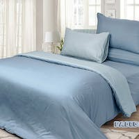Rise Bedding Finezza Sprei Set Bed Cover Bahan Microfiber Motif Faded Denim 160x200x35cm
