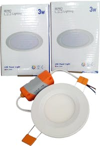 Repro Offilo Downlight IB Panel Round 3w Warm White (Kuning)