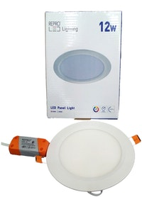 Repro Offilo Downlight IB Panel Round 12w Warm White (kuning)