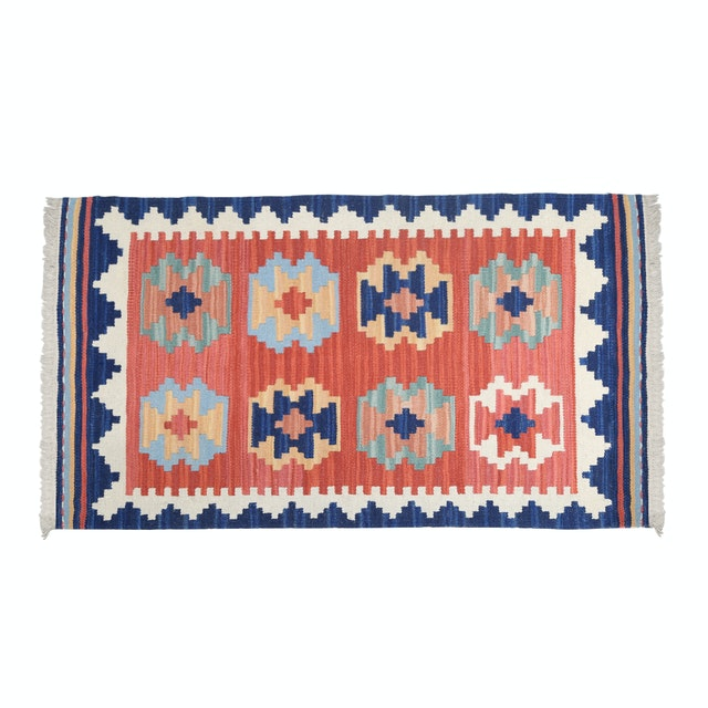 Raphael Living Karpet Ikat Blue